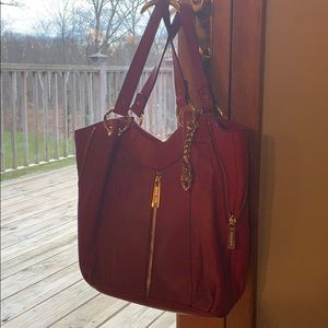 Red!!! Beautiful MICHAEL KORS leather bag